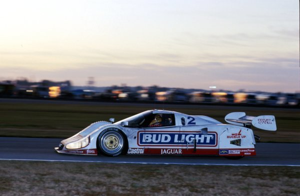 Scott Pruett (USA) Jaguar XJR-12D, 2nd place.