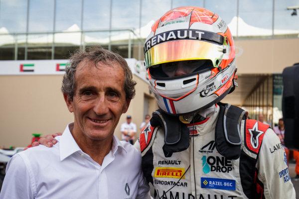 Anthoine Hubert (FRA, ART Grand Prix), with Alain Prost.