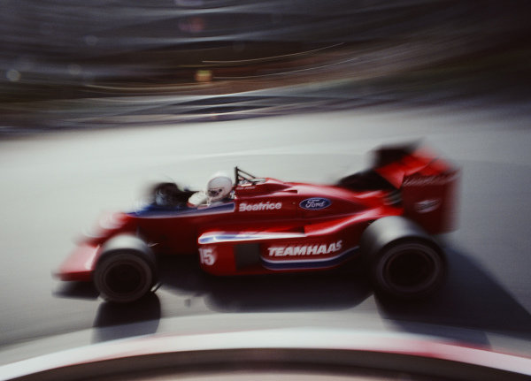 Alan Jones, Lola THL2 Ford, during practice.