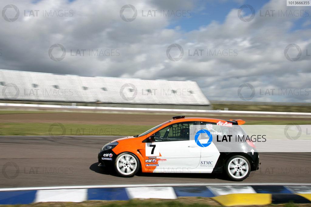 Rockingham, Northamptonshire. 17th - 18th September 2011.David Dickenson (GBR) Team Pyro Renault Clio Cup.World Copyright: Ebrey/LAT Photographic.