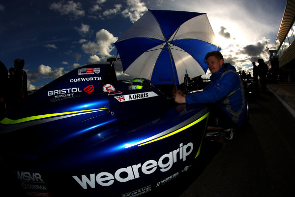 2016 BRDC British Formula 3 Championship, Snetterton, Norfolk. 27th - 28th March 2016. Lando Norris (GBR) Carlin BRDC F4. World Copyright: Ebrey / LAT Photographic.