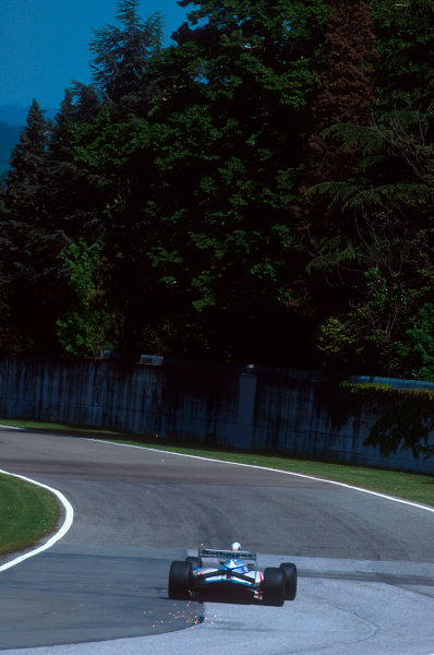 Imola, Italy.29/4-1/5 1994.Ayrton Senna (Williams FW16 Renault). He was tradgically killed after an accident on the start of lap 7.Ref-94 SM 27.World Copyright - LAT Photographic