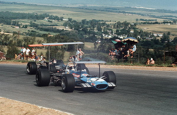 Kyalami, South Africa.27/2-1/3 1969.Jackie Stewart (Matra MS10 Ford) 1st position.Ref-35mm 69 SA 102.World Copyright - LAT Photographic