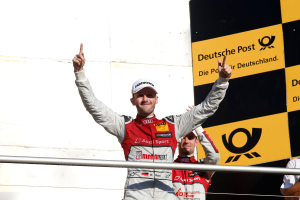 2017 DTM Round 9  Hockenheimring, Germany  Sunday 15 October 2017. Champion Podium: Champion René Rast, Audi Sport Team Rosberg, Audi RS 5 DTM  World Copyright: Alexander Trienitz/LAT Images ref: Digital Image 2017-DTM-HH2-AT2-2147