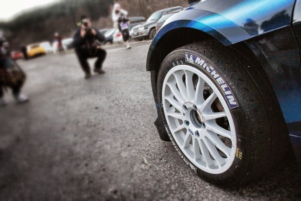 Elfyn Evans (GBR) / Daniel Barritt (GBR), Ford Fiesta RS WRC front wheel and Michelin tyre on the Shakedown Stage. FIA World Rally Championship, Rd1, Rally Monte Carlo, Preparatons, Monte Carlo, 13-15 January 2014.