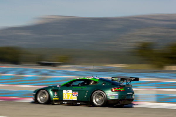 Circuit Paul Ricard, France. 8th March 2009. Paul Drayson / Jonny Cocker, (Drayson Racing) Aston Martin Vantage V8. Action. World Copyright: Drew Gibson/LAT Photographic.ref: Digital Image DG0_2765