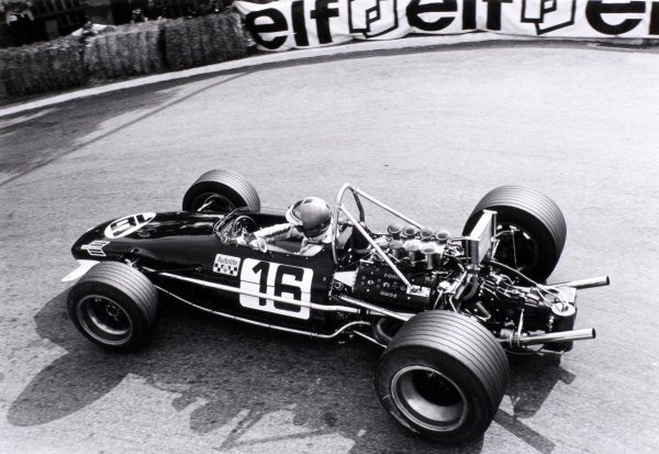 1969 Monaco Grand Prix Monte Carlo, Monaco. 18 May 1969 Piers Courage, Brabham BT26-Ford, 2nd position, action World Copyright: LAT PhotographicRef: 2473 #14