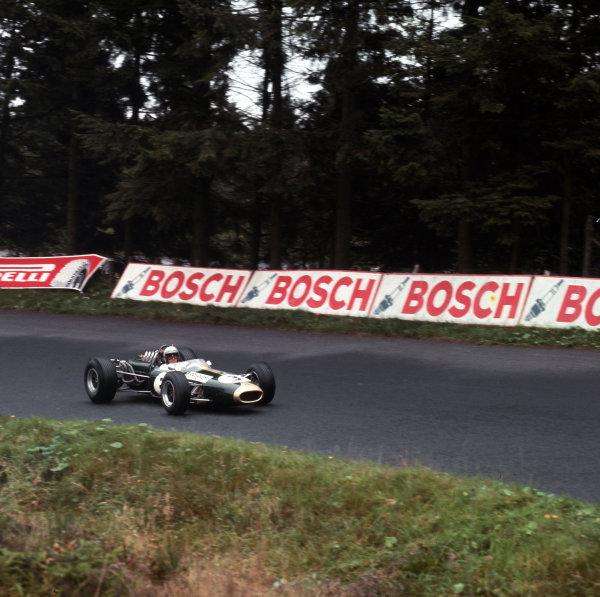 Nurburgring, Germany.5-7 August 1966.Jack Brabham (Brabham BT19 Repco) 1st position.Ref-3/2416.World Copyright - LAT Photographic
