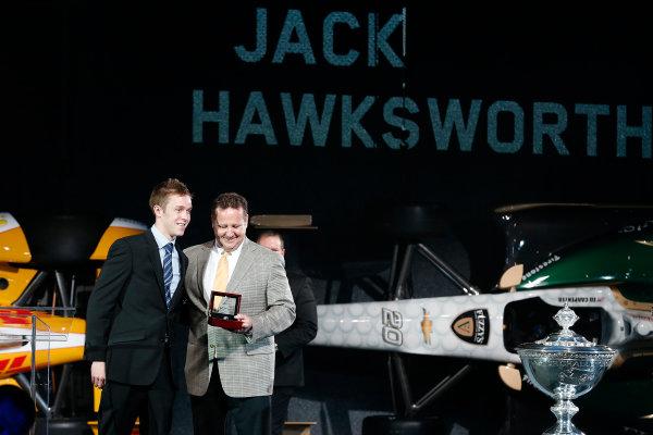 6 December, 2012, Indianapolis, Indiana, USA Star Mazda Champ Jack Hawksworth.(c) 2012, Michael L. Levitt LAT Photo USA