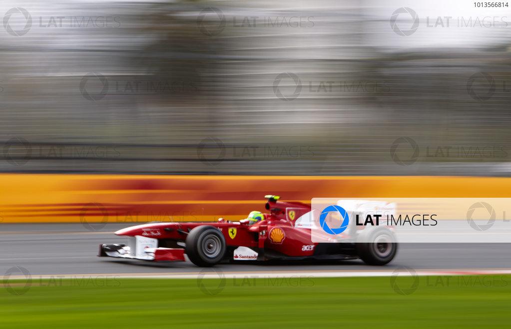 Albert Park, Melbourne, Australia 24th March 2011. Felipe Massa, Ferrari 150° Italia. Action.  World Copyright: Steve Etherington/LAT Photographic ref: Digital Image SNE23721