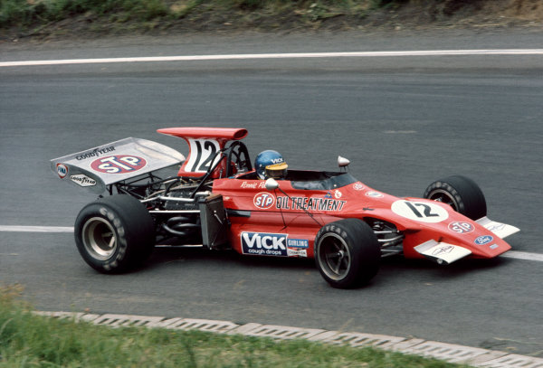 Clermont-Ferrand, France. 30th June - 2nd July 1972.  Ronnie Peterson (March 721G-Ford), 5th position. Ref: 72FRA49. World Copyright: LAT Photographic