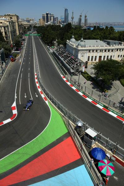 Baku City Circuit, Baku, Azerbaijan. Friday 23 June 2017. Pascal Wehrlein, Sauber C36-Ferrari. World Copyright: Charles Coates/LAT Images ref: Digital Image AX0W5272