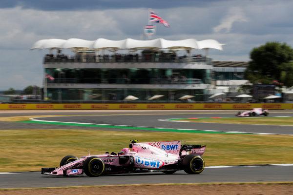 Silverstone, Northamptonshire, UK.  Friday 14 July 2017. Esteban Ocon, Force India VJM10 Mercedes. World Copyright: Zak Mauger/LAT Images  ref: Digital Image _54I4447