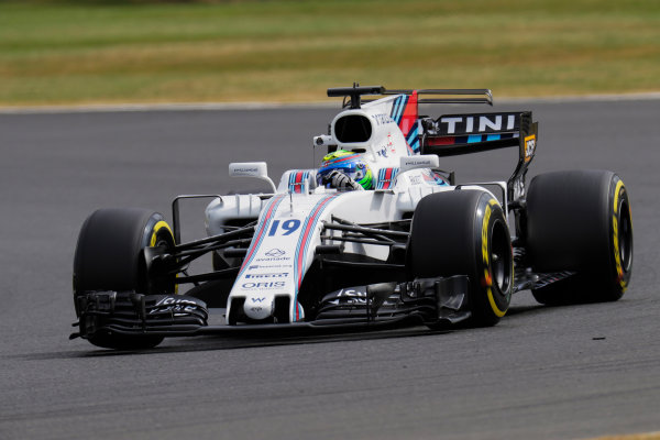 Silverstone, Northamptonshire, UK.  Friday 14 July 2017. Felipe Massa, Williams FW40 Mercedes. World Copyright: Zak Mauger/LAT Images  ref: Digital Image _56I8541