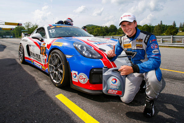 IMSA Continental Tire SportsCar Challenge Lime Rock Park 120 Lime Rock Park, Lakeville, CT USA Friday 21 July 2017 12, Porsche, Porsche Cayman GT4, GS, Cameron Cassels, Trent Hindman World Copyright: Jake Galstad LAT Images