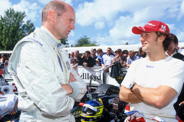 2004 Goodwood Festival of SpeedGoodwood House, Chichester, England. 25th - 27th June.Christiano Da Matta chats with Adrian Newey.World Copyright: Peter Spinney/LAT Photographicref: 35mm Transparency Image.