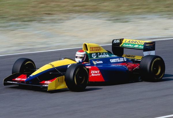 1993 Japanese Grand Prix. Suzuka, Japan. 22-24 October 1993. Toshio Suzuki (Larousse LH93 Lamborghini). Ref-93 JAP 26. World Copyright - LAT Photographic