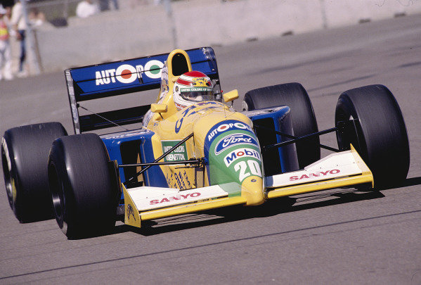 1991 United States Grand Prix.Phoenix, Arizona, USA.8-10 March 1991.Nelson Piquet (Benetton B190B Ford) 3rd position.Ref-91 USA 37.World Copyright - LAT Photographic