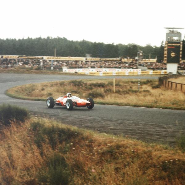 Nurburgring, Germany.31/7-2/8 1964.Lorenzo Bandini (Ferrari Dino 156) 3rd position.Ref-3/1383.World Copyright - LAT Photographic