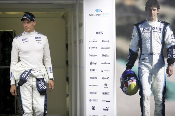 2006 Hungarian Grand Prix - Thursday PreviewHungaroring, Budapest, Hungary. 3rd - 6th August.Alex Wurz, Williams FW28 Cosworth with a picture of Mark Webber, Williams FW28 Cosworth. Portrait.World Copyright: Steven Tee/LAT Photographicref: Digital Image VY9E3905