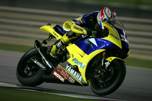 2008 MotoGP. Losail, Qatar. 7th - 9th March 2008. Rd 1. James Toseland, Yamaha, 6th position, action. World Copyright: Martin Heath/LAT Photographic. Ref: Digital Image Only.