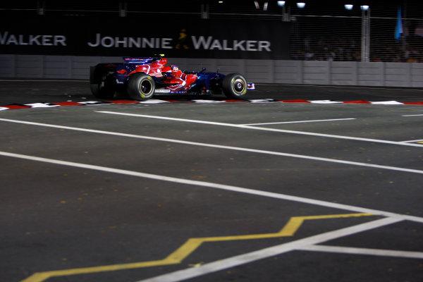 2008 Singaopore GP - Friday PracticeMarina Bay Circuit, Singapore, Singapore.26th September 2008.Sebastian Vettel, Toro Rosso STR03 Ferrari. Action. World Copyright: Glenn Dunbar/LAT Photographicref: Digital Image _O9T9913