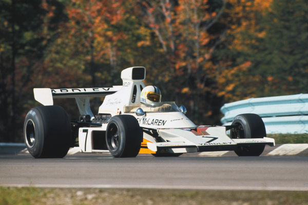1973 United States Grand Prix.  Watkins Glen, New York, USA. 5-7th October 1973.  Denny Hulme, McLaren M23 Ford.  Ref: 73USA28. World copyright: LAT Photographic