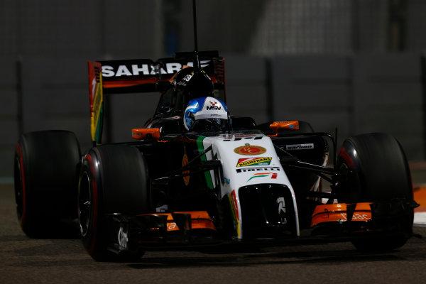 Yas Marina Circuit, Abu Dhabi, United Arab Emirates. Tuesday 25 November 2014. Jolyon Palmer, Force India VJM07 Mercedes.  World Copyright: Sam Bloxham/LAT Photographic. ref: Digital Image _SBL8693