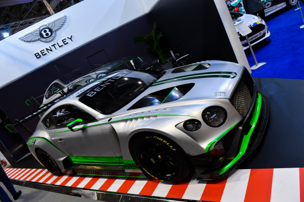 Autosport International Exhibition. National Exhibition Centre, Birmingham, UK. Friday 12th January 2018. A Bentley on display.World Copyright: Mark Sutton/Sutton Images/LAT Images Ref: DSC_7910