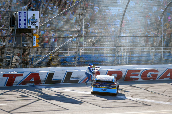 Monster Energy NASCAR Cup Series GEICO 500 Talladega Superspeedway, Talladega, AL USA Sunday 7 May 2017 Ricky Stenhouse Jr, Roush Fenway Racing, Fifth Third Bank Ford Fusion celebrates his win World Copyright: Nigel Kinrade LAT Images ref: Digital Image 17TAL1nk07506