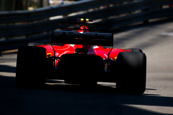 Monte Carlo, Monaco. Saturday 27 May 2017. Kimi Raikkonen, Ferrari SF70H. World Copyright: Charles Coates/LAT Images ref: Digital Image AN7T7371
