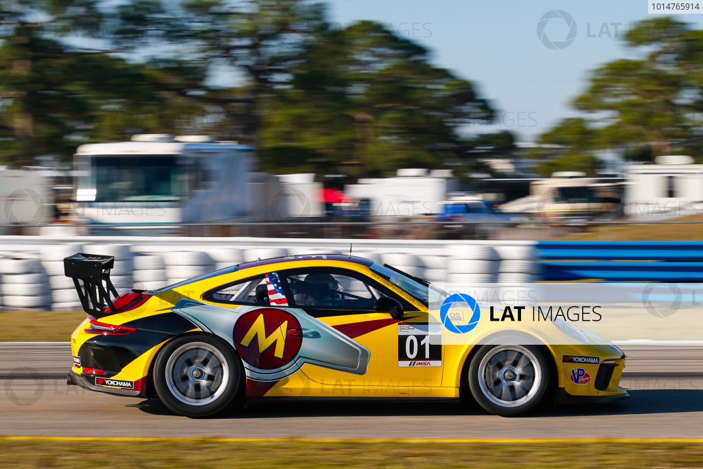 2017 Porsche GT3 Cup USA Sebring International Raceway, Sebring, FL USA Wednesday 15 March 2017 01, Jeff Mosing, GT3P, USA, M, 2017 Porsche 991 World Copyright: Jake Galstad/LAT Images ref: Digital Image lat-galstad-SIR-0317-14886