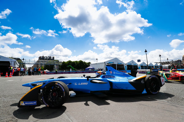 2016/2017 FIA Formula E Championship. Qatar Airways Paris ePrix, France. Saturday 20 May 2017.Sebastien Buemi (SUI), Renault e.Dams, Spark-Renault, Renault Z.E 16. Photo: Sam Bloxham/LAT/Formula E ref: Digital Image _J6I8626