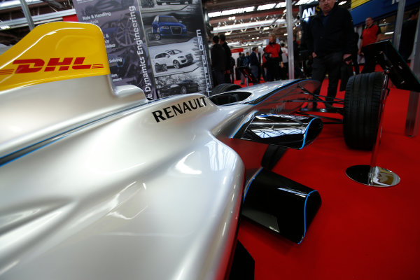 Autosport International Show NEC, Birmingham.  Friday 10 January 2014. The new Formula E car. World Copyright:Sam Bloxham/LAT Photographic ref: Digital Image _SBL8257