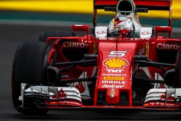 Autodromo Hermanos Rodriguez, Mexico City, Mexico. Friday 28 October 2016. Sebastian Vettel, Ferrari SF16-H. World Copyright: Glenn Dunbar/LAT Photographic ref: Digital Image _X4I6874