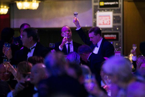 2016 Autosport Awards. Grosvenor House Hotel, Park Lane, London. Sunday 4 December 2016.  The Autosport awards raise a Glass   World Copyright: /LAT Photographic. ref: Digital Image JL1_9220