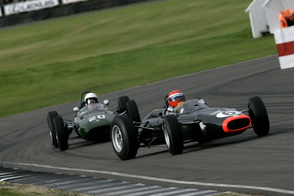 2007 Goodwood Revival Meeting.  Goodwood, West Sussex. 1st - 2nd September 2007.  Glover Trophy.  Barrie Williams gets sideways holding off Frank Sytner. World Copyright: Gary Hawkins/LAT Photographic  ref: Digital Image Only