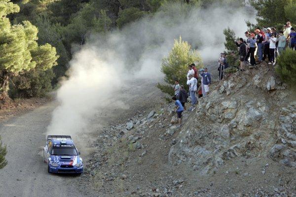 2007 FIA World Rally ChampionshipRound 8Acropolis Rally of Greece31/5-- 3/6  2007Aris Vovos, Subaru, Action.Worldwide Copyright: McKlein/LAT