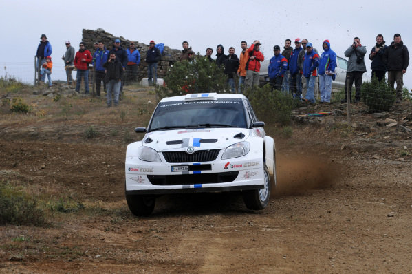 Sebastien Ogier (FRA) and Julien Ingrassia (FRA), Skoda Fabia S2000 on stage 11. FIA World Rally Championship, Rd4, Rally Portugal, Faro, Portugal, Saturday 31 March 2012.