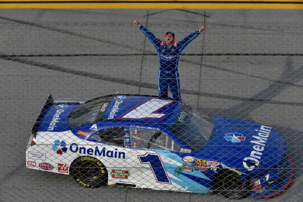 29-30 April, 2016, Talladega, Alabama USA  Elliott Sadler celebrates. ?2016, Logan Whitton  LAT Photo USA