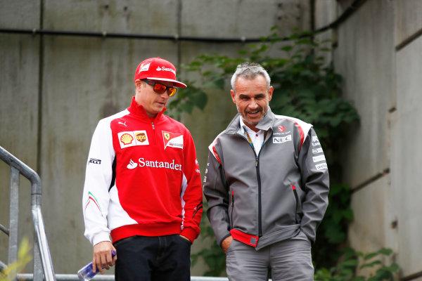 Spa-Francorchamps, Spa, Belgium. Friday 22 August 2014. Kimi Raikkonen, Ferrari. World Copyright: Charles Coates/LAT Photographic. ref: Digital Image _J5R9213