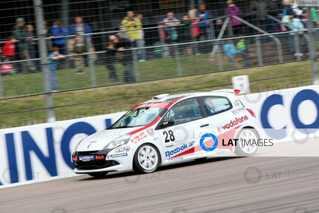 Rockingham, Northamptonshire. 17th - 18th September 2011.Nicolas Hamilton (GBR) Total Control Racing Renault Clio Cup.World Copyright: Ebrey/LAT Photographic.