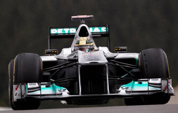 Spa-Francorchamps, Spa, Belgium 26th August 2011. Michael Schumacher, Mercedes GP W02. Action.  World Copyright: Steve Etherington/LAT Photographic ref: Digital Image SNE20945