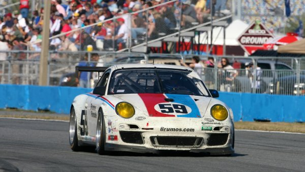 26-29 January, 2012, Daytona Beach, Florida USAThe #59 Porsche of Andrew Davis, Leh Keen, Hurley Haywood and Marc Lieb is shown in action during the Rolex 24 at Daytona.(c)2012, R D. EthanLAT Photo USA