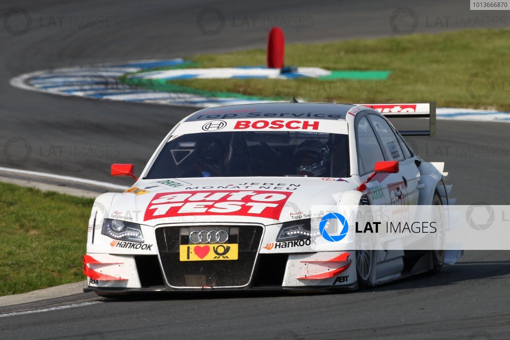 Timo Scheider (GER), Audi Sport Team Abt, AUTO TEST Audi A4 DTM (2009).DTM, Rd8, Oschersleben, Germany, 16-18 September 2011 Ref: Digital Image dne1117se572