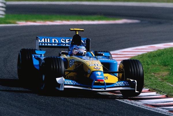 2002 Belgian Grand Prix.Spa-Francorchamps, Belgium. 30/8-1/9 2002.Jarno Trulli (Renault R202).Ref-02 BEL 45.World Copyright - Steven Tee/LAT Photographic