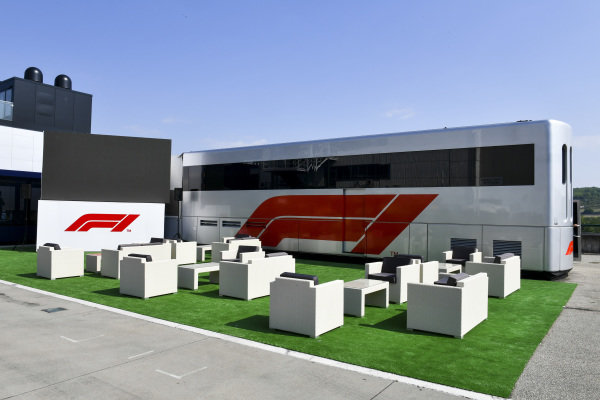FOM hospitality area in the paddock