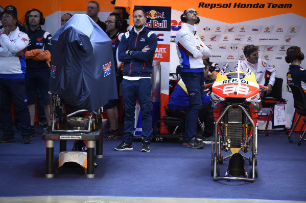 Garage of Jorge Lorenzo, Repsol Honda Team.