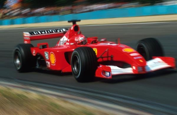 Michael Schumacher (GER) Ferrari F1 2001 won his record equalling fifty-first Grand Prix and his fourth World Championship Ð the second in a row for Ferrari.