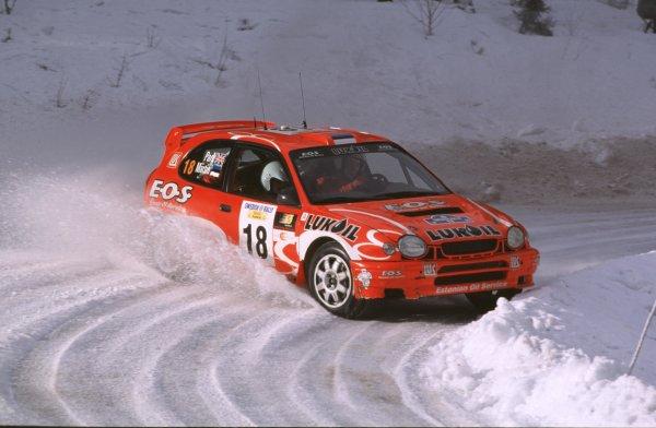 Markko Martin, Toyota Corolla WRC. 9th placeSwedish Rally, Sweden 10-13/2/2000World - McKlein/LAT PhotographicRef: 2K WRC 11